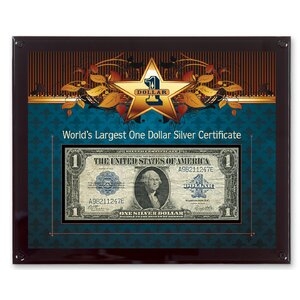 World's Largest Silver Certificate Currency Framed Memorabilia by American Coin Treasures