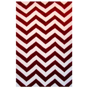 Top Reviews Capri Red/White Area Rug ByL.A. Rugs