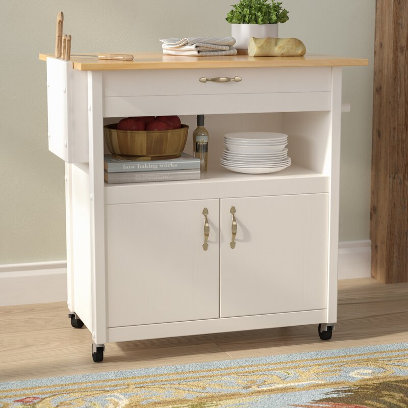 August Grove Allie Kitchen Cart With