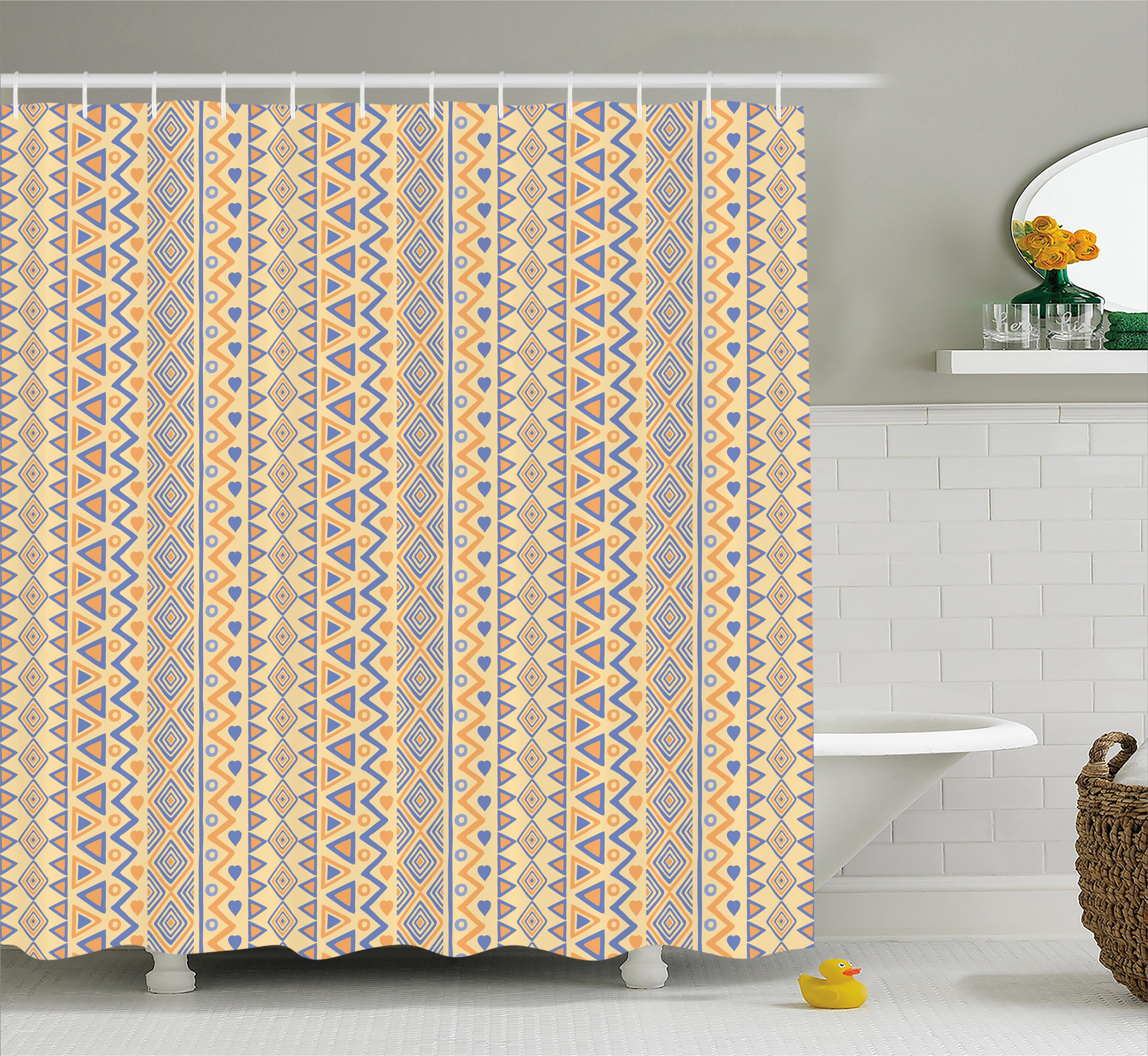 Bungalow Rose Cyrano Stripes Native American Shower Curtain