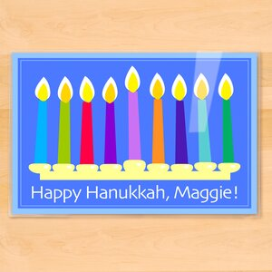 Hanukkah Menorah Personalized Placemat