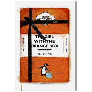 'The Girl with the Orange Box' Graphic Art on Wrapped Canvas by Oliver Gal
