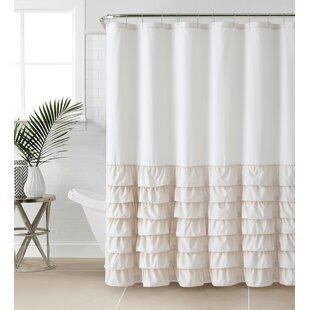 Comparison Standifer Ruffle Shower Curtain ByLark Manor