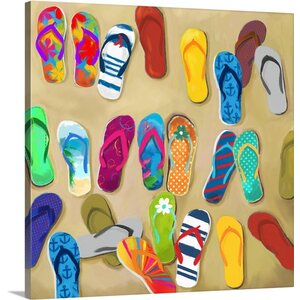 Flip Flops II Mini by Drako Fontaine Painting Print on Wrapped Canvas by Great Big Canvas