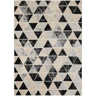 Huerta Black/Beige Area Rug ByWrought Studio