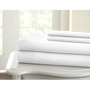 Cavet Sateen Wrinkle Resistant 4 Piece 1200 Thread Count Sheet Set