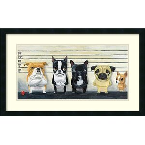 'The Lineup' by Brian Rubenacker Framed Graphic At by Amanti Art