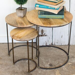 Briarwood Iron Accent 3 Piece Nesting Table by Union Rustic