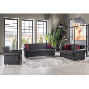 Conny 3 Piece Sleeper Living Room Set by Red Barrel Studio®