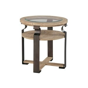Metal and Wood End Table by Hekman