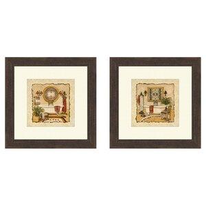 'Art Deco' 2 Piece Framed Painting Print Set by Lark Manor