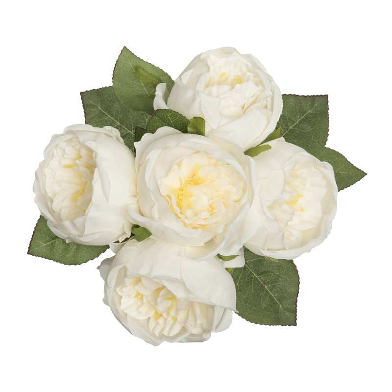 Le prise artificial peony silk flower centerpiece reviews wayfair artificial peony silk flower centerpiece mightylinksfo