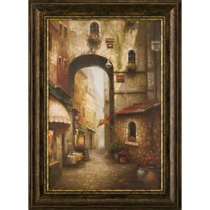 Ashton Art & Décor The Grand Archway Framed Painting Print by Ashton Wall Décor LLC