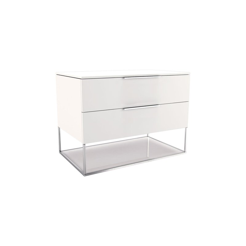 Fabulous Modloft Bowery 2 Drawer Nightstand & Reviews | Wayfair YA34