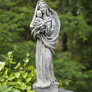 Standing Madonna and Child Statue