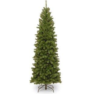 pencil slim green spruce artificial christmas tree - 7ft Slim Christmas Tree