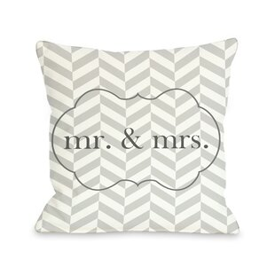 Mr U0026 Mrs Frame Throw Pillow