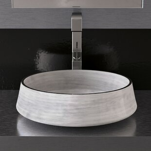 Aida Metal Circular Vessel Bathroom Sink By Maestro Bath