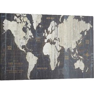 World map wall art old world map graphic art print on wrapped canvas sciox Choice Image