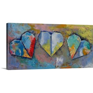 'Hearts' by Michael Creese Painting Print on Wrapped Canvas by Great Big Canvas