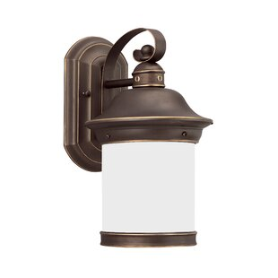 Compare prices Brettany 1-Light LED Outdoor Wall Lantern By Bloomsbury Market