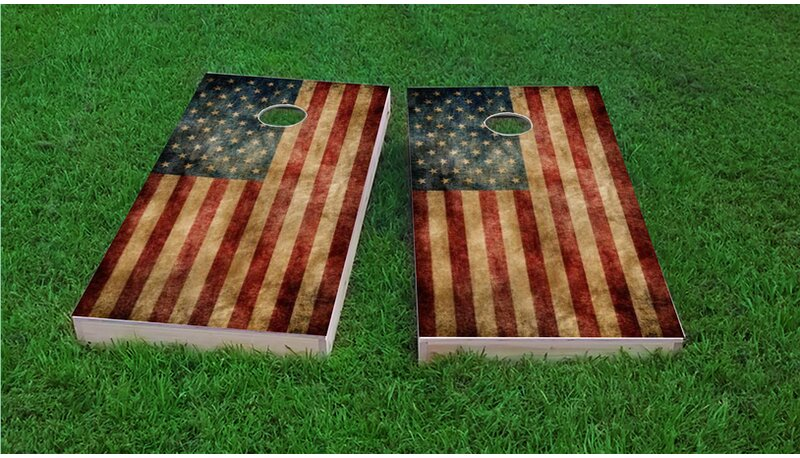 United Kingdom National Flag Themed Custom Cornhole Board Game Set Made in the USA!