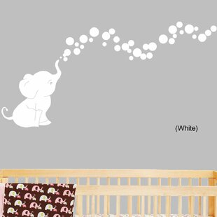 Elephant Bubbles Nursery Room Removable Wall Decal By Decal the Walls
