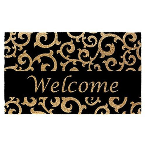 "J /& M Home Fashions Floor Mat Flocked Welcome 18/"" X 30/"" Rubber"