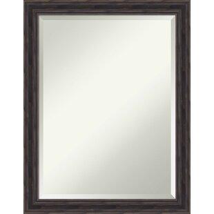 Loon Peak Rectangle Wood Wall Mirror