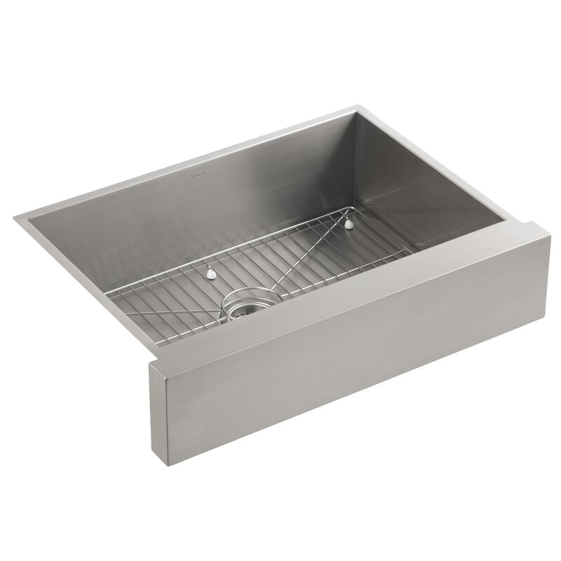 Kohler Vault Under-Mount Single-Bowl Kitchen Sink, Stainless Steel ...