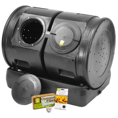 compost wizard 50 gal tumbler composter with booster kit