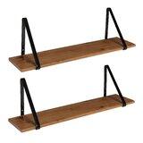 Mcmartin Wooden 2 Piece Bracket Shelf Set (Set of 2)