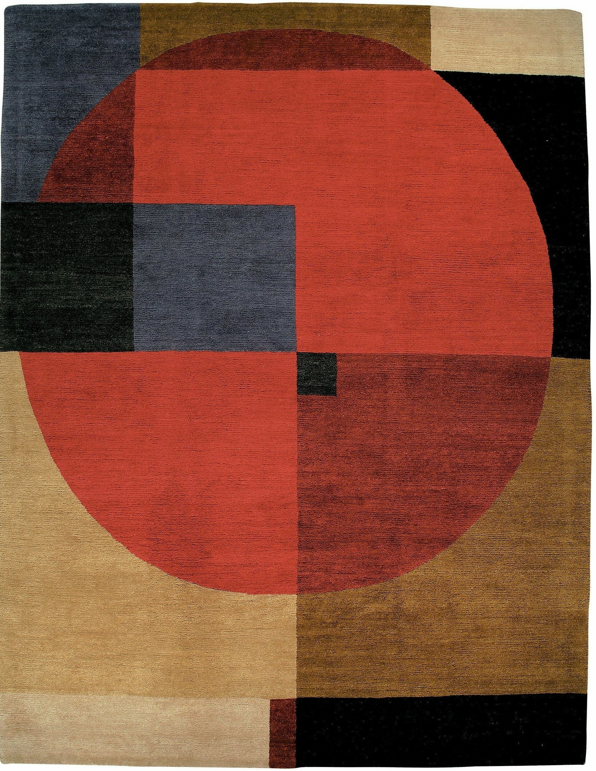Tufenkian Compass Geometric Hand Knotted Wool Red Brown Black Rug Wayfair