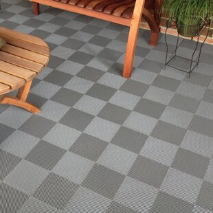 12 X Deck And Patio Flooring Tile In Gray