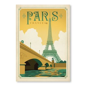 Paris, France Vintage Advertisement by East Urban Home