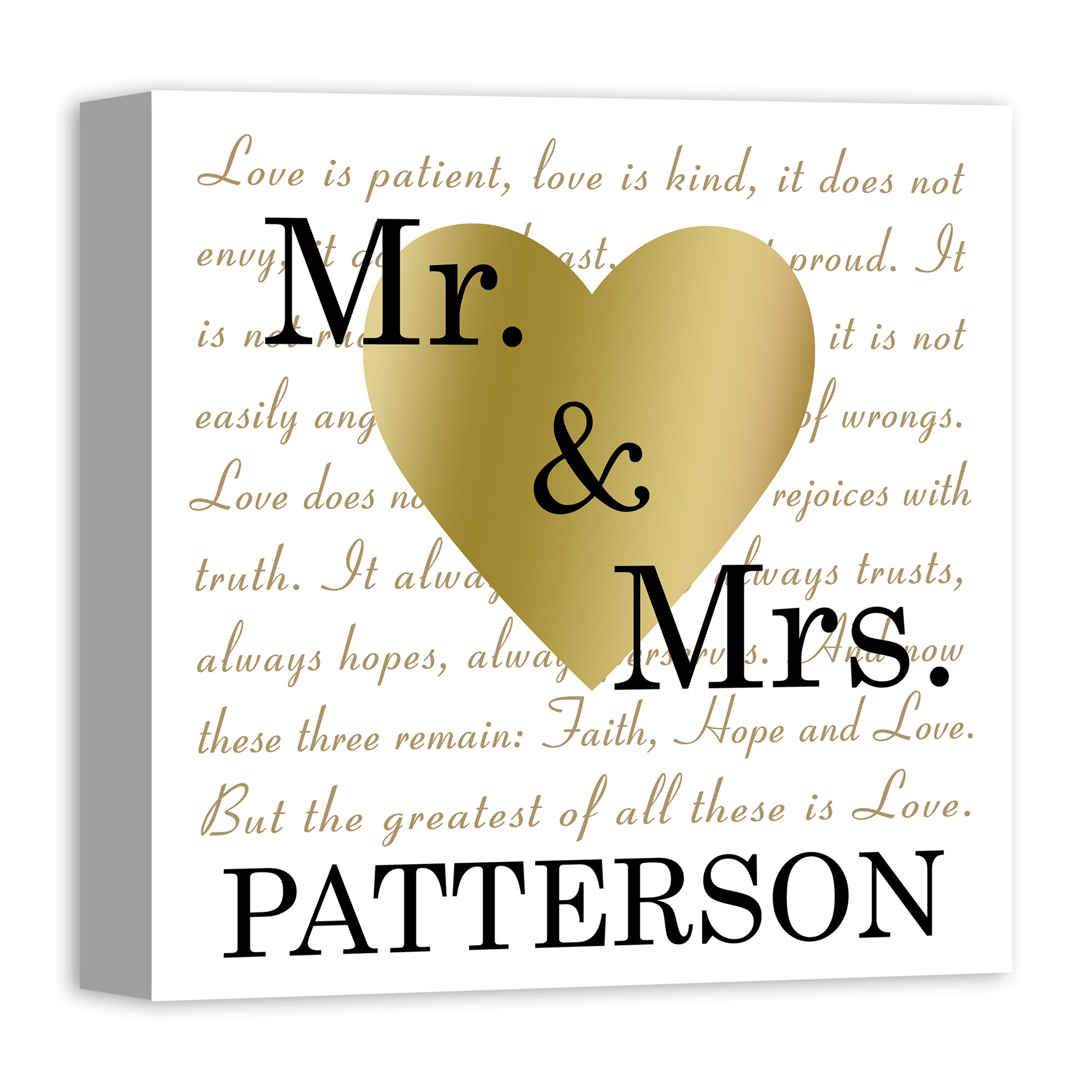 Designs Direct Creative Group \'Mr. & Mrs. Love is Patient Heart ...