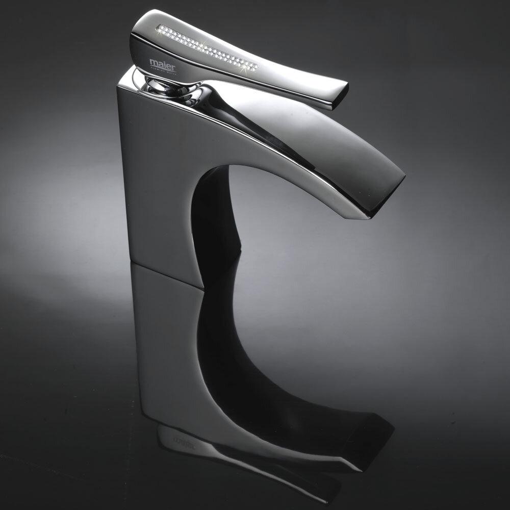 MaestroBath Skip Diamond Swarovski Crystal Bathroom Faucet | Wayfair