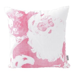 Faded Vintage Inspired Santa Throw Pillow