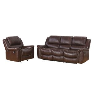 Blackmoor Reclining 2 Piece Leather Living Room Set Darby Home Co