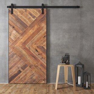 Malibu Core Reclaimed Solid Wood Interior Barn Door & Reclaimed Wood Barn Door | Wayfair