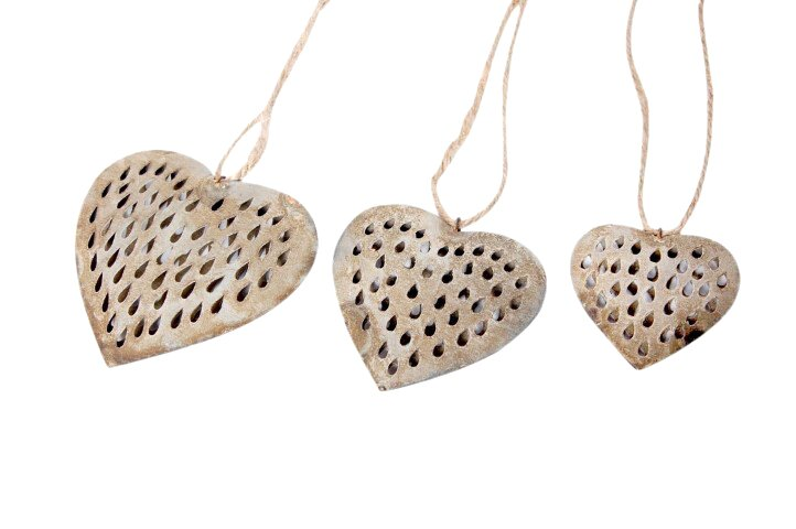 Galvanized Performance Heart with Rope Decorative Set