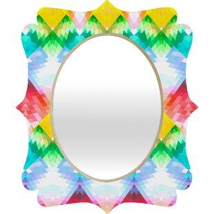 Deny Designs Deniz Ercelebi Rainbow Quatrefoil Accent Mirror