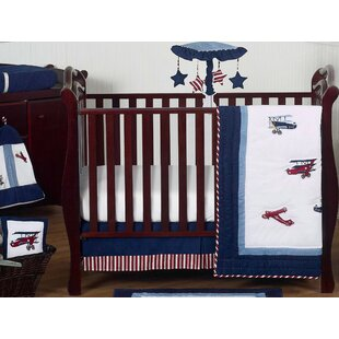 Vintage Aviator 11 Piece Crib Bedding Set