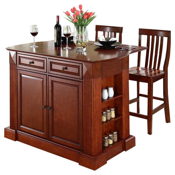 Beachcrest Home Byron 3 Piece Kitchen Island Set Amp Reviews