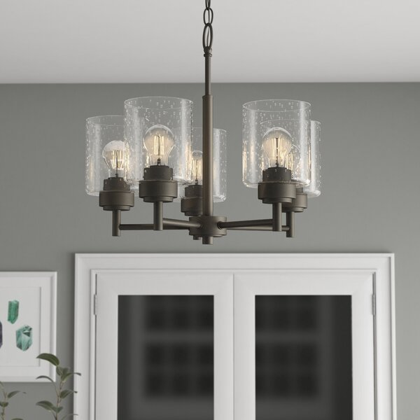 Latitude Run Honea 5 Light Shaded Classic Chandelier Reviews Wayfair
