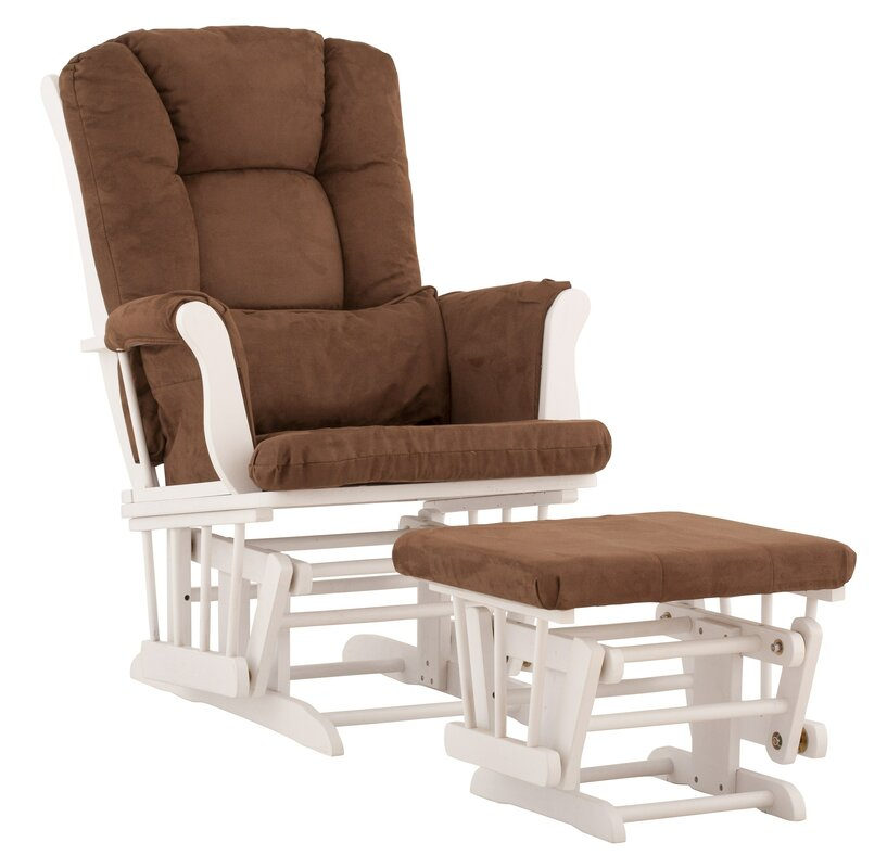Storkcraft Tuscany Custom Upholstery Glider And Ottoman