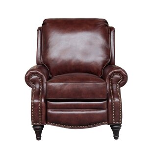 Avery Leather Manual Recliner Darby Home Co