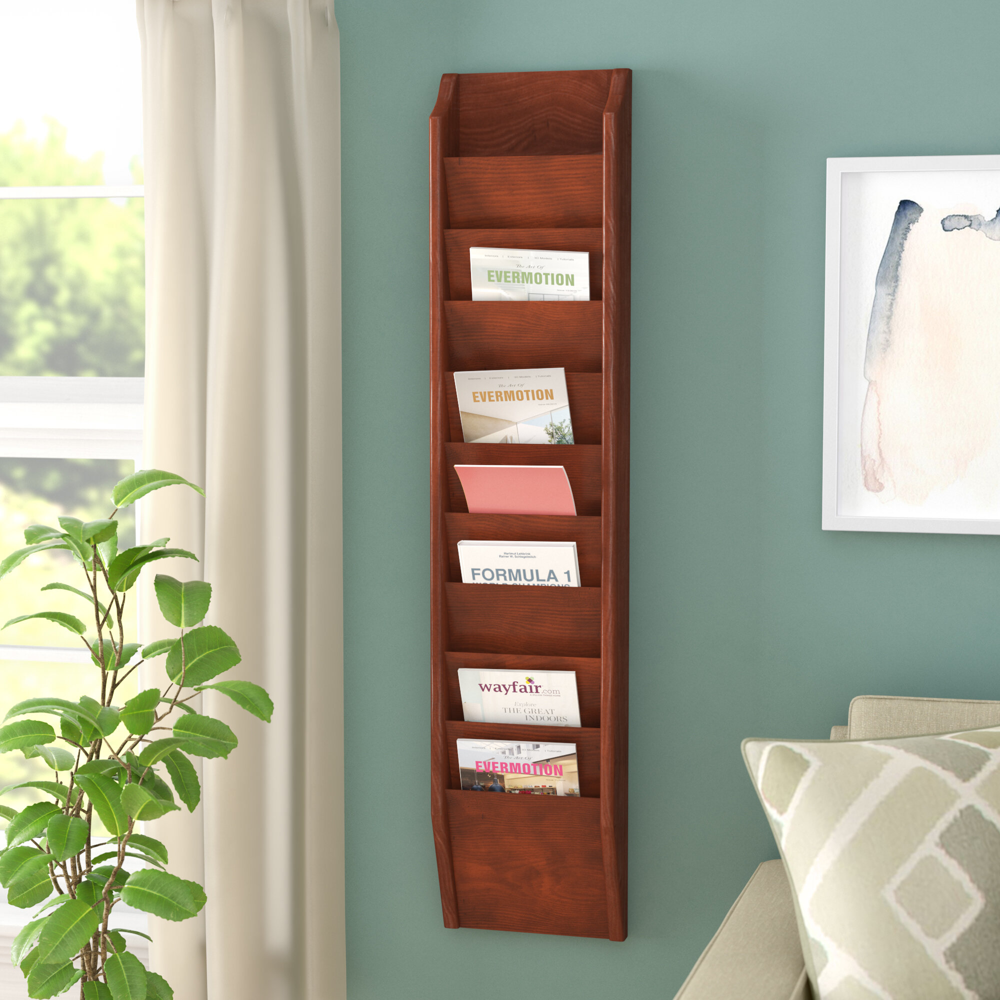 magazine rack oak mounted htm wooden racks mallet magwallracks wall