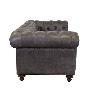 Newbury Genuine Top Grain Tufted Leather Chesterfield Sofa Westland and Birch