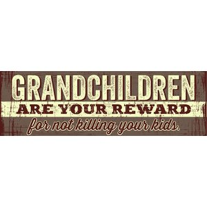 'Grandchildren are Your Reward' by Tonya Gunn Textual Art on Plaque by Artistic Reflections
